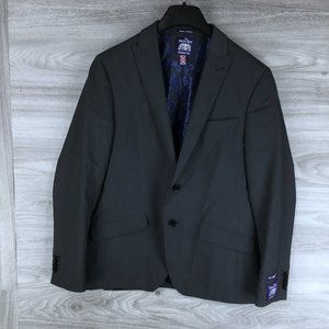 Savile Row Co Brixton Grey 2 Button Suit Blazer
